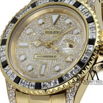 ロレックス (Rolex) Gmt-master Ii 40mm 18k Yellow Gold Diamond-paved...