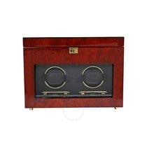 Wolf Designs Savoy Double Watch Winder - Burlwood 454610