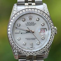 Rolex Watch Mens Stainless Steel Datejust 36mm Diamond Dial...