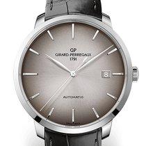 Girard Perregaux 1966 44 MM White Gold Dial Brown Strap Black...