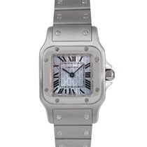 Cartier Santos Ladies Quartz in Stainless Steel Blue Dial,...