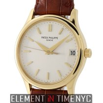 Patek Philippe Calatrava 18k Yellow Gold 34mm Silver Index Dial