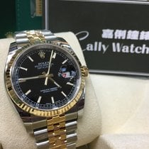 Rolex Cally - 116233 Datejust 36 SS / YG Black Stick [NEW]