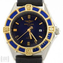 Breitling Uhr Lady J Class Edelstahl/ Gold Damenuhr D52065