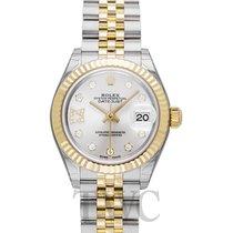 롤렉스 (Rolex) Lady-Datejust 28 Silver Steel/18k Yellow Gold G...