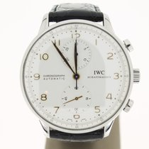 IWC Portuguese Chronograph Steel GoldHands (B&P2013) 41mm