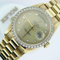 Ρολεξ (Rolex) 18k Gold Day-date President Champagne Diamond 18238
