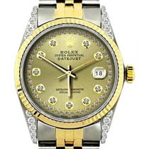 Rolex Datejust Men's 36mm Champagne Dial Stainless Steel...
