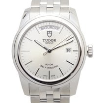 Tudor Glamour Date Stainless Steel Silver Automatic 56000-6806...