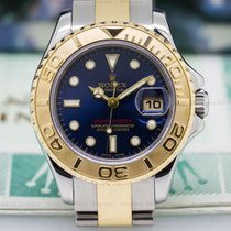 Rolex 169623 Yachtmaster Ladies Blue Dial 18K / SS (26479)