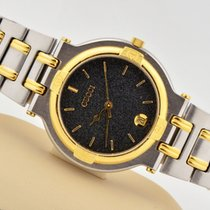 Gucci 9000g Two Tone Stainless Steel Swiss Quartz Black Dial...