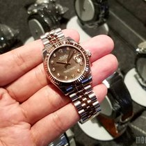 Rolex 178271 Black Mother-of-Pearl with Diamonds Datejust 31mm