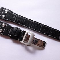 Bodhy Strap in 22mm - Black Leather in 22/18mm - Pilot Flieger...