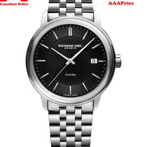 Raymond Weil Maestro Black Dial Stainless Steel Men's...