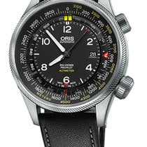 Oris Big Crown ProPilot Altimeter M, Black Leather