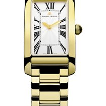 Maurice Lacroix Fiaba Rectangular Gold Hands, Gold Case and Strap