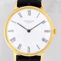 パテック・フィリップ (Patek Philippe) Calatrava White roman dial 18K...