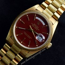 Rolex 18078 Day-Date 18K YG Oxblood Stella Dial with Bracelet