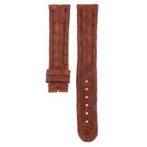 Genuine Leather Hand Made Crocodile Brown Strap 18mm
