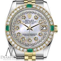 Rolex Ladies Rolex 31mm Datejust 2 Tone White Mop String...