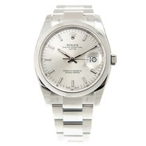 Rolex Oyster Perpetual Date Stainless Steel Silver Automatic...