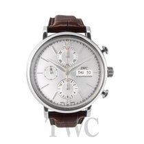IWC Portofino Chronograph White Steel/Leather 42mm - IW391007