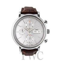 IWC Portofino Chronograph White Steel/Leather 42mm - IW391007