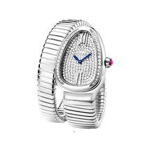Bulgari 102005 Serpenti Ladies 35mm Quartz - White Gold-...