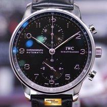 IWC Portuguese Chronograph Iw3714 Black Automatic Ref : Iw3714...