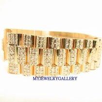 勞力士 (Rolex) Aftermarket 18k YG Diamond Bracelet Band for Mens...