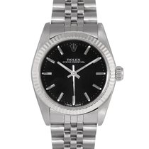 Rolex Oysterdate  Midsize Steel with Black Dial, Ref: 67514
