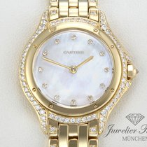 Cartier Panthere Cougar Lady Gelbgold 750 Diamanten Perlmutt
