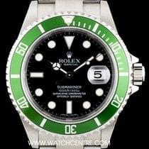 Rolex S/S Unworn Green Bezel Submariner Date B&P 16610LV