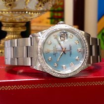 Rolex Oyster Perpetual Date 34mm Mother Of Pearl Stainless...