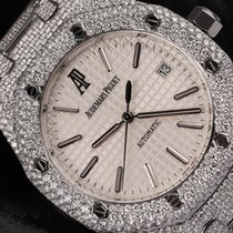 Audemars Piguet Royal Oak  39mm Steel Fully Iced Out 15300st.o...