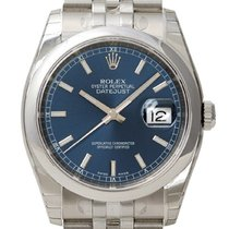 Rolex Datejust 36 mm Ref. 116200 Blau Index Jubile-Band