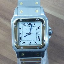 Cartier Santos Galbee Stahl/Gold großes Modell revisioniert