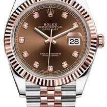 Rolex Datejust 41mm Steel and Everose Gold 126331 Chocolate...