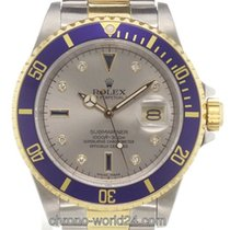 Rolex Submariner Date Ref. 16613 Sultan Serti Dial/Papiere/Box...