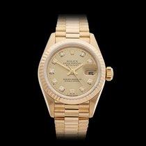 Rolex Datejust 18k Yellow Gold Ladies 69178 - W4084