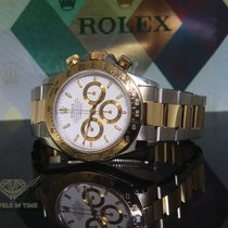 Rolex Daytona Zenith 18k Yellow Gold/Steel White Dial Mens...
