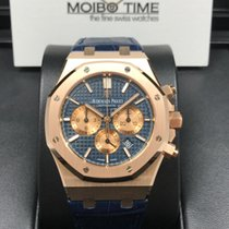 Audemars Piguet Royal Oak Chronograph 41mm blue dial Alligator...