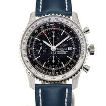 Breitling Navitimer World 46 Chronograph Black Dial Blue...