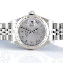 Rolex Ladies Datejust - Rhodium Roman Numeral Dial - 79174