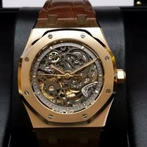 Audemars Piguet 15305OR Royal Oak Skeleton Openworked 18K Pink...