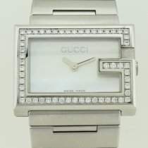 Gucci G 100L Quartz Steel Lady Dial Mother Pearl Diamond