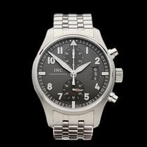 IWC Pilot's Chronograph Spitfire Stainless Steel Gents...