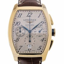 Longines Evidenza 40 Chronograph Brown Strap
