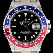 Rolex S/S Black Dial Pepsi Bezel GMT-Master II NOS B&P 16710