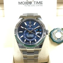 勞力士 (Rolex) Sky-Dweller Steel with White Gold Bezel Blue Dial...